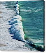 Waves At Nazare Beach - Portugal Canvas Print