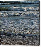 Waves Quietly Approaching Canvas Print