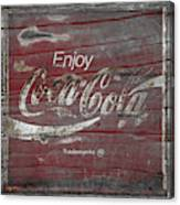 Weathered Coca Cola Sign Canvas Print