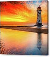 Welsh Lighthouse Sunset Canvas Print