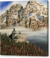 Werfen Austria Castle In The Clouds Canvas Print