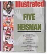 West Virginia University Major Harris, University Of Notre Sports Illustrated Cover Canvas Print