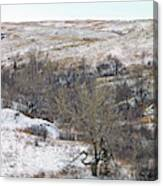 Western Edge Winter Hills Canvas Print