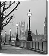 Westminster At Dawn, London Canvas Print