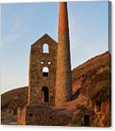 Wheal Coates Mine Chapel Porth Cornwall Canvas Print