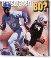 Which Way Bo? Bo Jackson Of Kansas City Royals And Los Angeles Raiders Sports Illustrated Cover Canvas Print