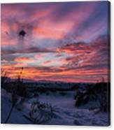 White Sand Sunset Canvas Print