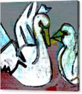 White Swans Canvas Print