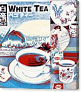 White Tea In Blue And White Canvas Print