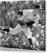 Whitey Ford On The Pitchers Mound Canvas Print