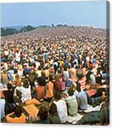 Wide-angle Pic Of Seated Crowd Listening Canvas Print