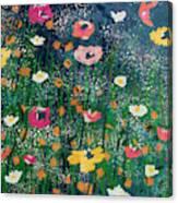 Wildflowers 2- Art By Linda Woods Canvas Print