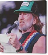 Willie Nelson Reading Letter Canvas Print