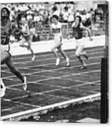 Wilma Rudolph Sprinting Across Finish Canvas Print