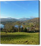 Windermere With Loughrigg Fell And The Langdales From Ambleside Canvas Print