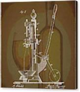 Wine Bottle Corking Patent Canvas Print