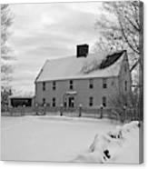 Winter At Noyes House Canvas Print
