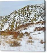 Winter Badlands Canvas Print