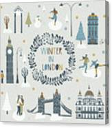 Winter In London Canvas Print