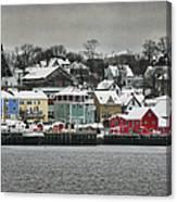 Winter In Lunenburg Canvas Print