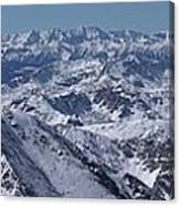 Winter In The Rockies From Mt. Massive Canvas Print