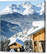 Winter Landscape On The Italian Dolomites Canvas Print