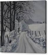 Winter Lane Canvas Print