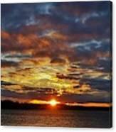 Winter Sunset Over Grand Island Canvas Print