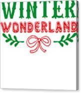 Winter Wonderland Christmas Secret Santa Snowing On Christmas Canvas Print