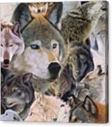 Wolves Alive Canvas Print