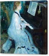 Woman At The Piano Canvas Print