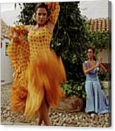 Woman Flamenco Dancer, Outdoors Canvas Print