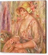 Woman In Muslin Dress, 1917 Canvas Print