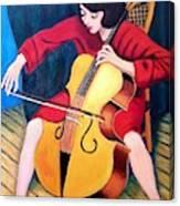 Woman Playing Cello - Bereny Robert Study Canvas Print