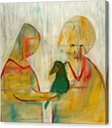 Women Holding A Bird Canvas Print