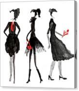 Women Silhouettes Canvas Print