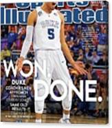 Won. Done. 2015 Ncaa Champions Sports Illustrated Cover Canvas Print