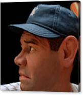 Wood Carving - Babe Ruth 002 Profile Canvas Print