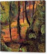 Wooded Path 1884 Canvas Print