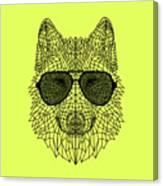 Woolf In Black Glasses Canvas Print