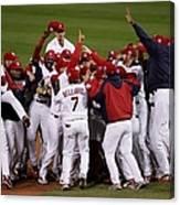 World Series Game 5 Detroit Tigers V Canvas Print