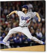 World Series - Los Angeles Dodgers V Canvas Print