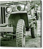 World War II Era Us Army Jeep Canvas Print