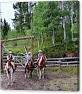 Wyoming Cowgirl Trio Canvas Print