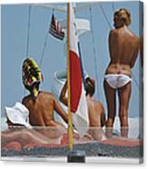 Yacht Holiday Canvas Print