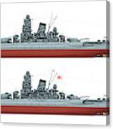 Yamato Class Battleships Port Side Canvas Print