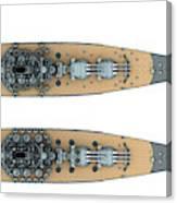 Yamato Class Battleships Top View Canvas Print