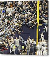Yankees Fans Reach Out To Touch Canvas Print