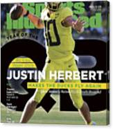 Year Of The Qb University Of Oregon Justin Herbert, 2019 Sports Illustrated Cover Canvas Print