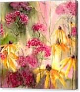 Yellow Ballerinas Canvas Print